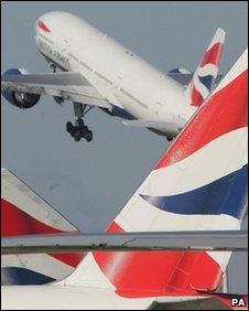 BA planes at Heathrow Airport