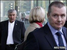 Tony Woodley and BA chief executive Willie Walsh