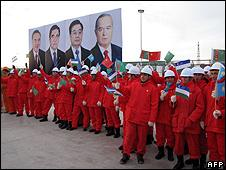 Opening ceremony for Turkmenistan-China gas pipeline, 14 Dec 09