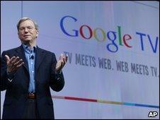 Eric Schmidt at the Google TV launch