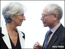 Christine Lagarde and Herman Van Rompuy