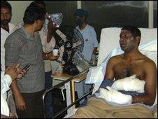A survivor in a Mangalore hospital