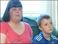 Deborah Wilson and her son Jay