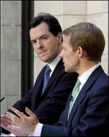 George Osborne and David Laws