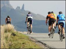 Cyclists on Skye