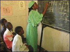 Kitwe Copperbelt Mines School classroom, Zambia
