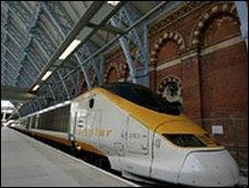 A Eurostar train at St Pancras