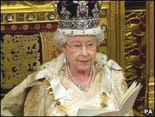 The Queen delivers the 2010 speech