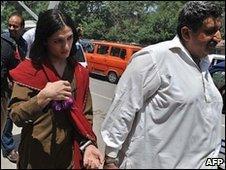 Malik Iqbal (R) with Rani