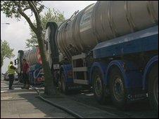 Tankers supplying Wirral water