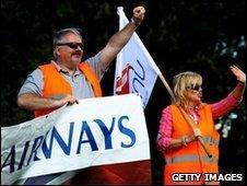 BA cabin crew strikers