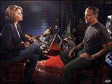 Jesse James (right) with ABC's Vicky Mabrey