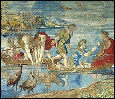 The Miraculous Drought of Fishes by Raphael