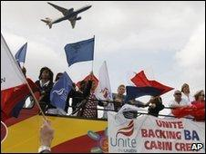 Striking BA workers
