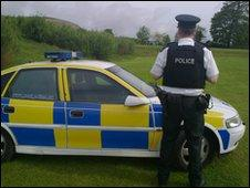 Policeman in Falls Park