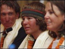 Jordan Romero in Kathmandu, 27 April 2010