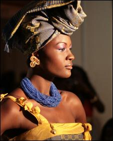 Ghanaian fashion model