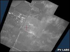 Field of view captured by airborne digital camera