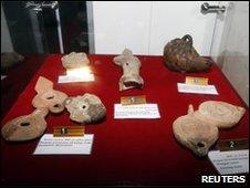 Artefacts in Tripoli museum