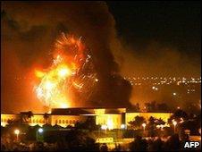 US bombing raids on Baghdad, 2003