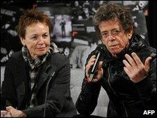 Lou Reed and his artist wife Laurie Anderson