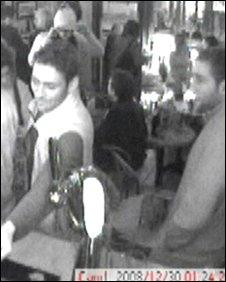 Stuart Slade facing bar (left) with Bishop nearby (right)