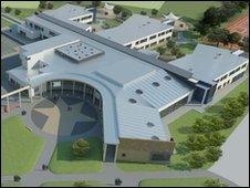 Concept image of the new building