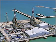 Kashagan offshore oil installation (pic: Eni)