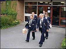 Pupils leaving school