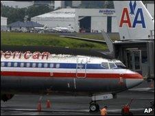 Planes at Guatemala City's airport