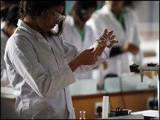 Secondary school chemistry class