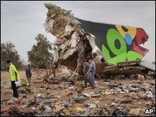 Wreckage of the Afriqiyah plane