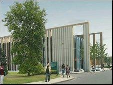 Artist's impression of one of the new buildings