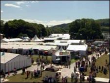 Urdd Eisteddfod field at Llanerchaeron.