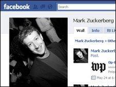 Facebook founder Mark Zuckerberg's profile