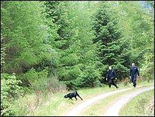 Strathclyde Police assisting in the search for Suzanne Pilley at Glen Croe on Monday