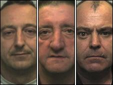 L to R: Michael Kidner, Gerald Tyler and Gary Wakefield (pic from Staffordshire Police)