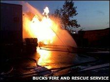 Fire at gas substation in Wolverton, Milton Keynes