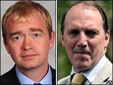 Tim Farron and Simon Hughes