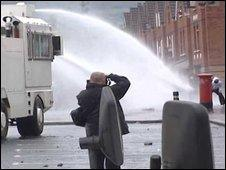 Water cannon fired during north Belfast trouble last year
