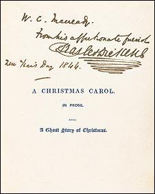 Charles Dickens inscription
