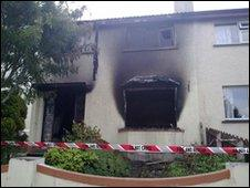 Home burnt out in Strabane