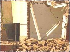 Bombed village in southern Punjab