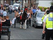 Horse and cart in Appleby