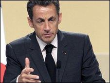 President Nicolas Sarkozy on 1 June 2010