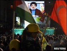 Hassan Nasrallah addresses Hezbollah supporters