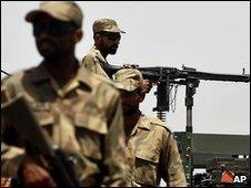 Pakistani troops in Peshawar (file image)