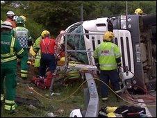 Bickenhill crash scene