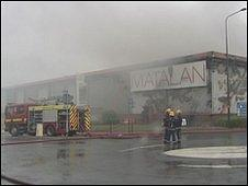 Fire at Matalan in Grimsby