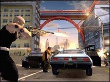 """Grab from the computer game """"Crackdown"""" (Pic from Realtime Worlds)"""